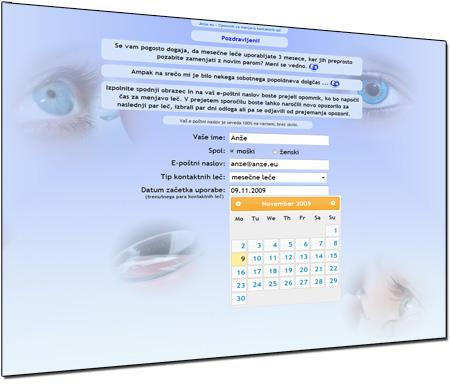 Anze.eu/Lece - Opomnik za menjavo kontaktnih leč